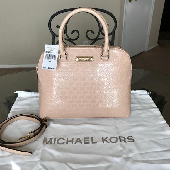 cdefeb977d30 Michael Kors Bags   Mk Large Signature Cindy Dome Satchel   Poshmark